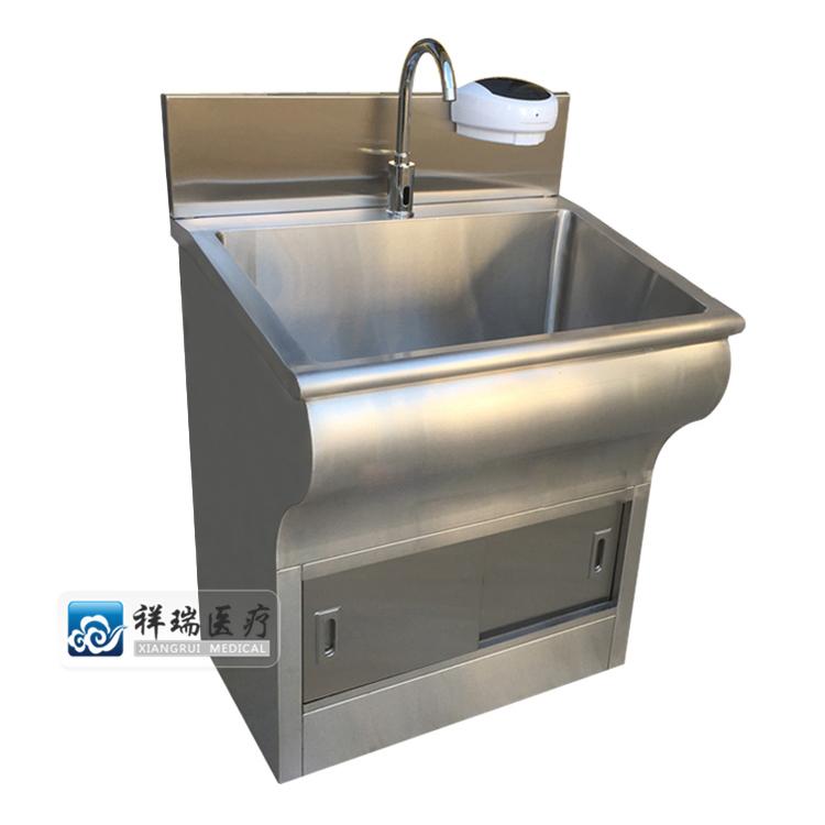 医用不锈钢洗手池(低背板 圆弧款)